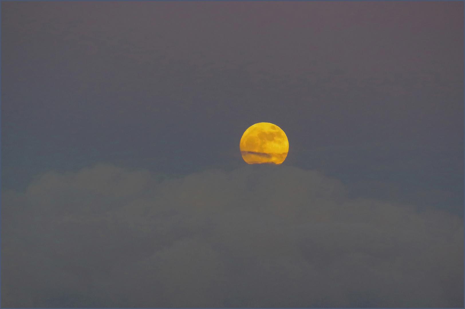 pleine lune crépusculaire ....