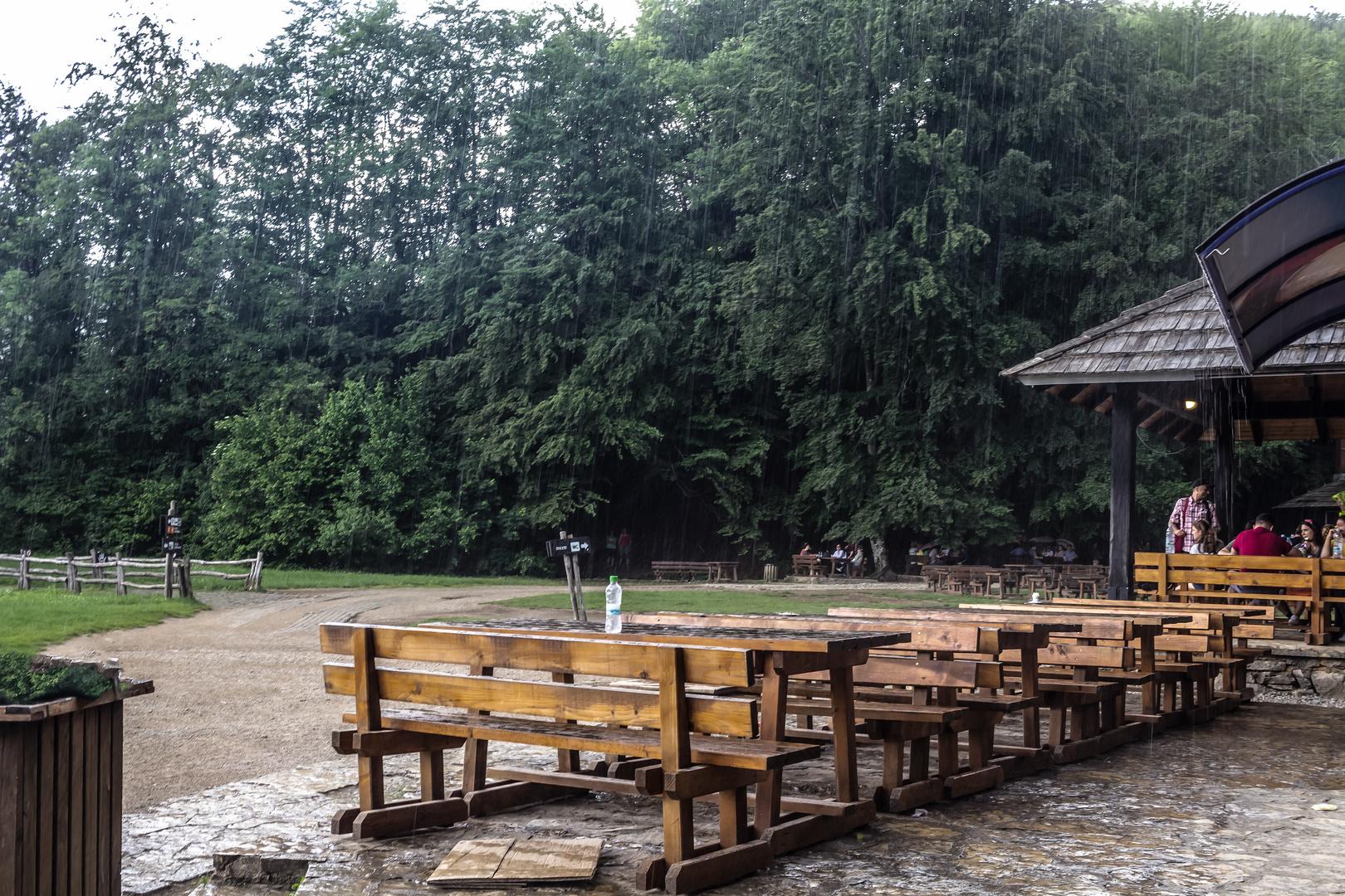 Plitvice bajo la lluvia