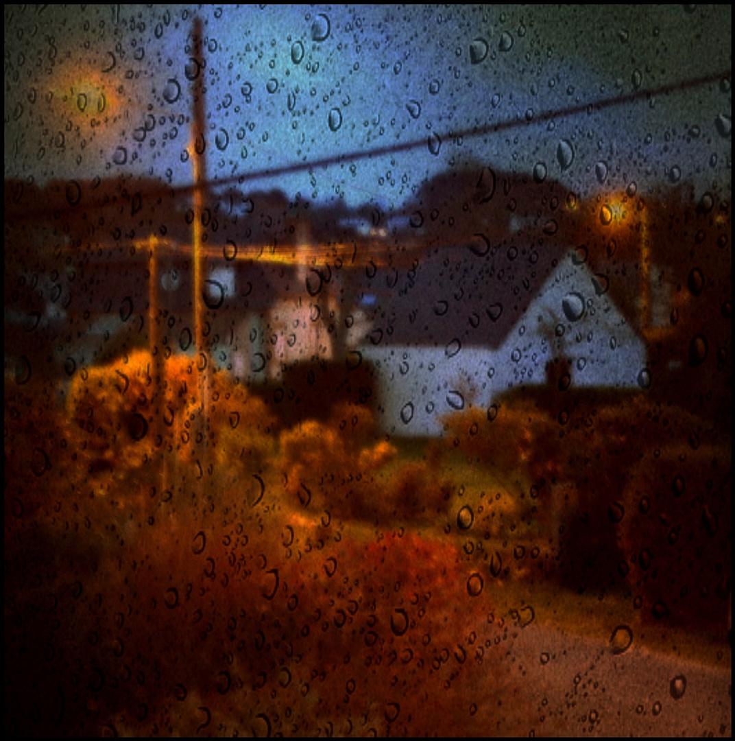 Pluie du soir au carreau