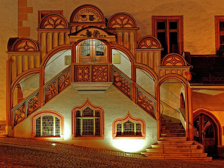 Pößnecker Rathaustreppe