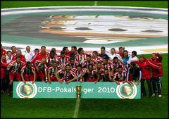 Pokalfinale 2010 Siegerfoto FC Bayern München