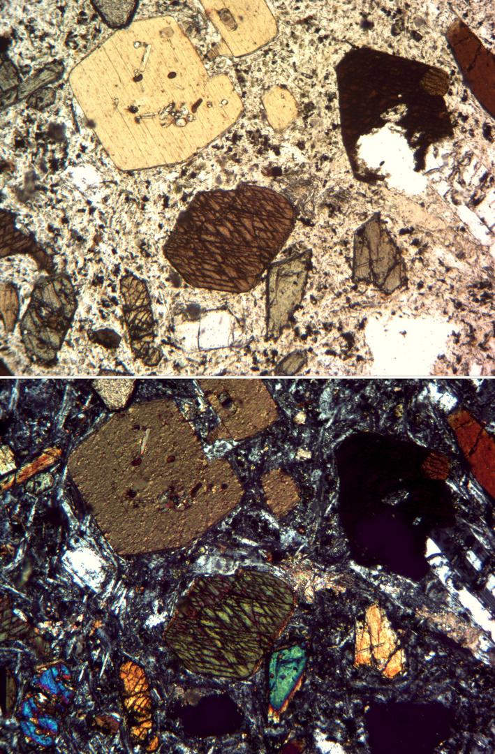 Polarisationsmikroskopie: Gauteit von Mühlörzen