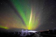 Polarlicht schwedisch Lappland