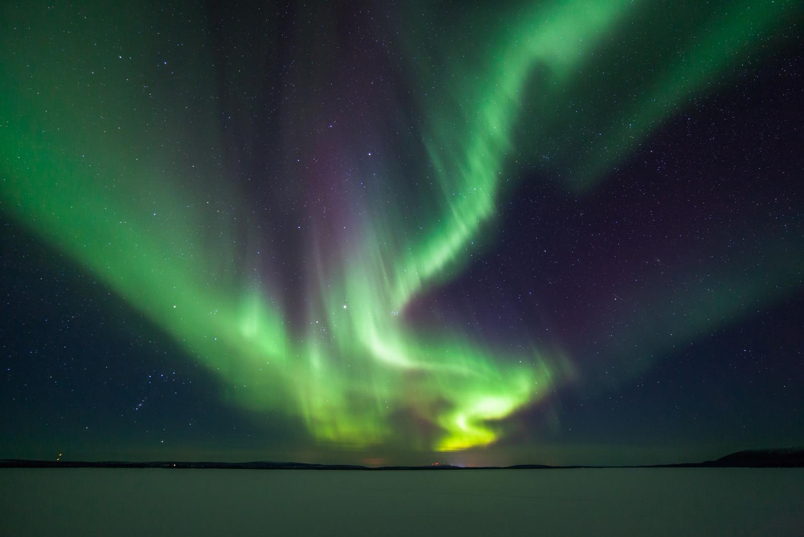 Polarlicht über dem Jerisjärvi