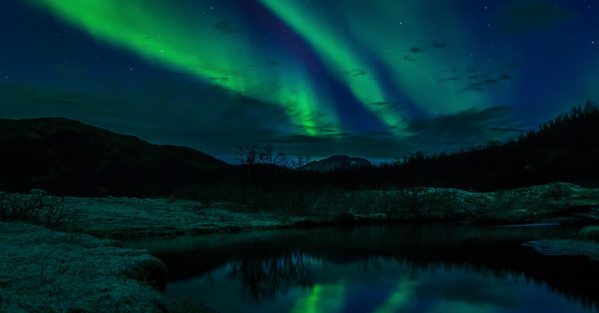 Polarlichter in Tromso Norwegen