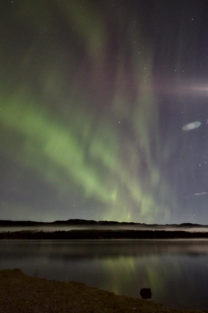 Polarlichter über dem Österdalälven