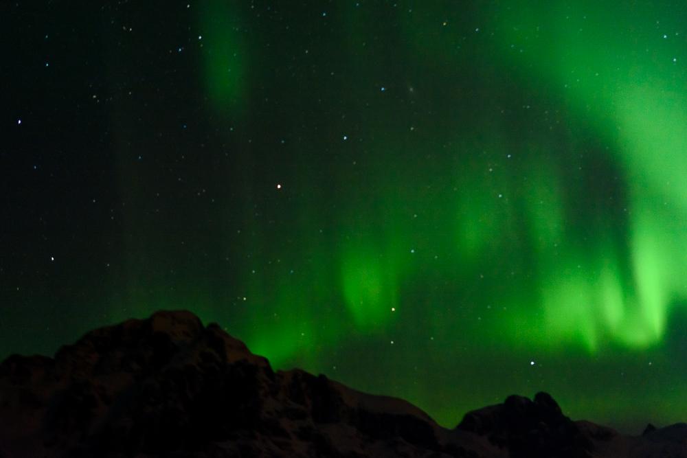Polarlichter überm Trollfjord