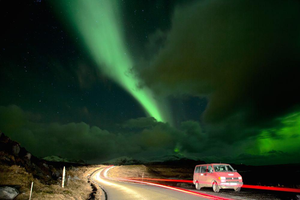 Polarlichtjagd