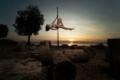 sunset pole dance