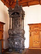 Poêle en fonte dans une des salles de l'Hôtel de Ville de Augsbourg