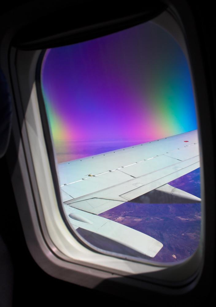 Polfilter und Flugzeugfenster