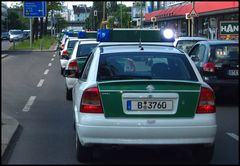 Polizei Kolonne Opel Astra