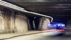 Polizeieinsatz im Matena Tunnel