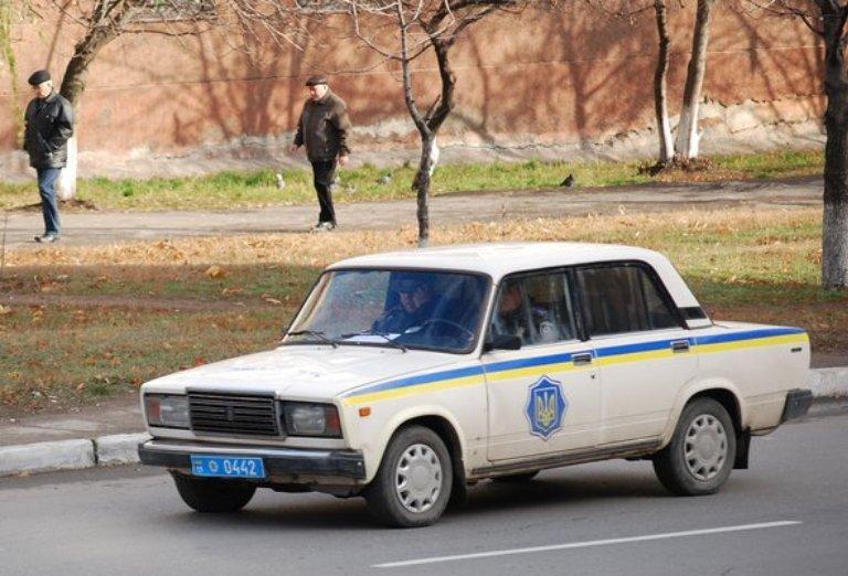 Polizeiwagen in der Ukraine