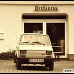 Polski Fiat an Altenrüthener Landbierbrauerei