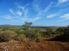 Pongola-Fluß ist hier zu sehen