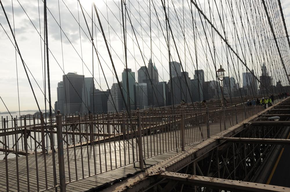 Pont de Brooklyn Nuit Tombante