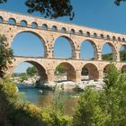 Pont du Gard Aqueduct in Südfrankreich