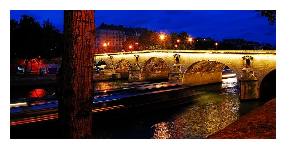 Pont Marie und Boot