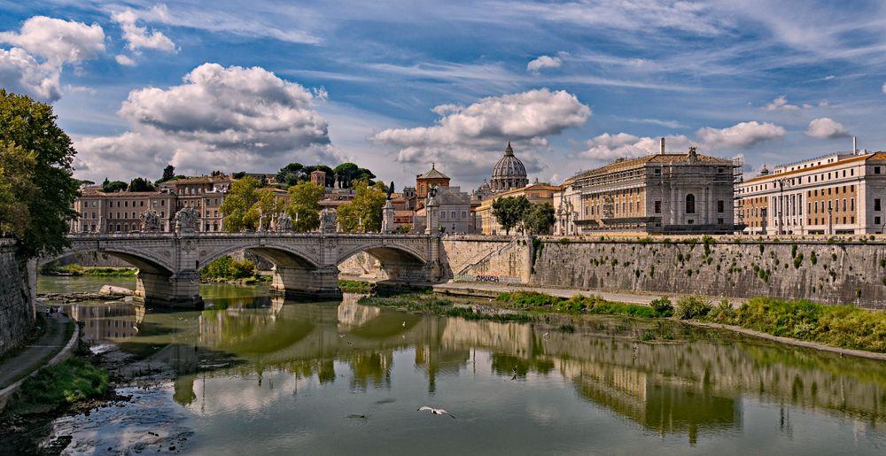 ponte angelo - Engelsbrücke am Tiber - Rom-
