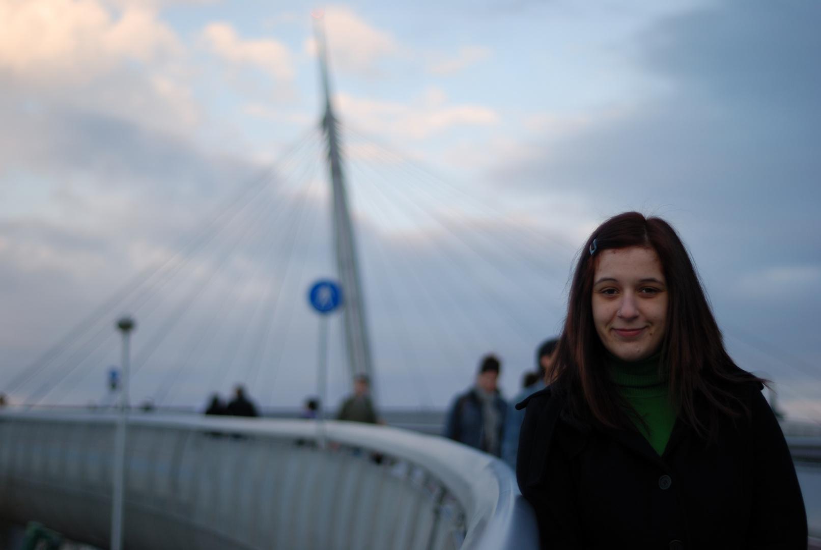 Ponte sul Mare Pescara con 50m nikon f/1.8