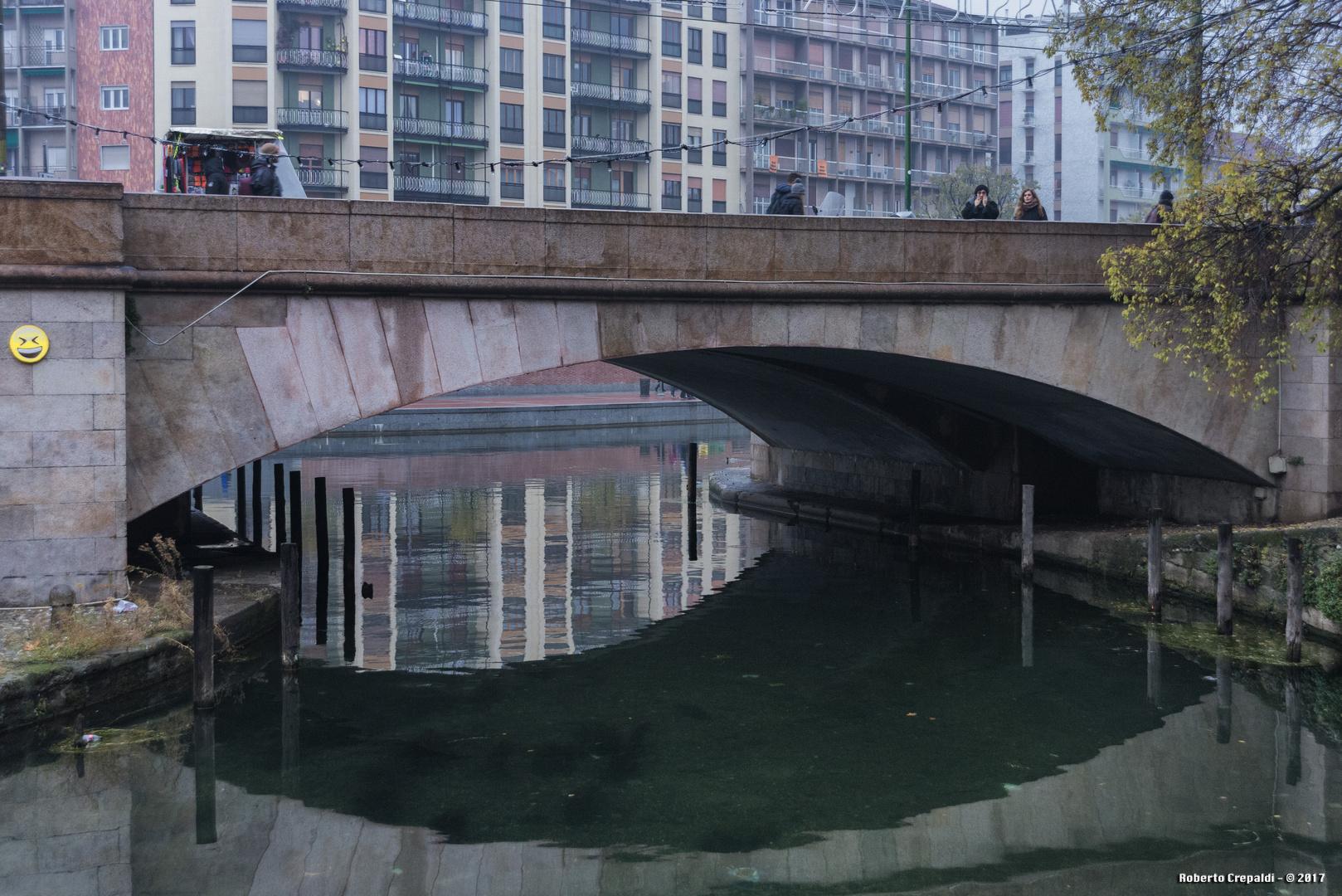 Ponte sulla darsena di Milano