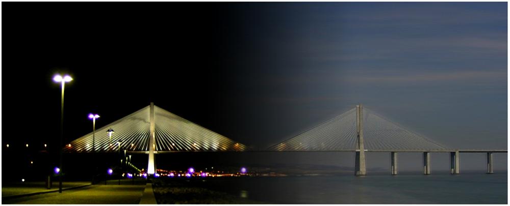 Ponte Vasco da Gama Day and Night