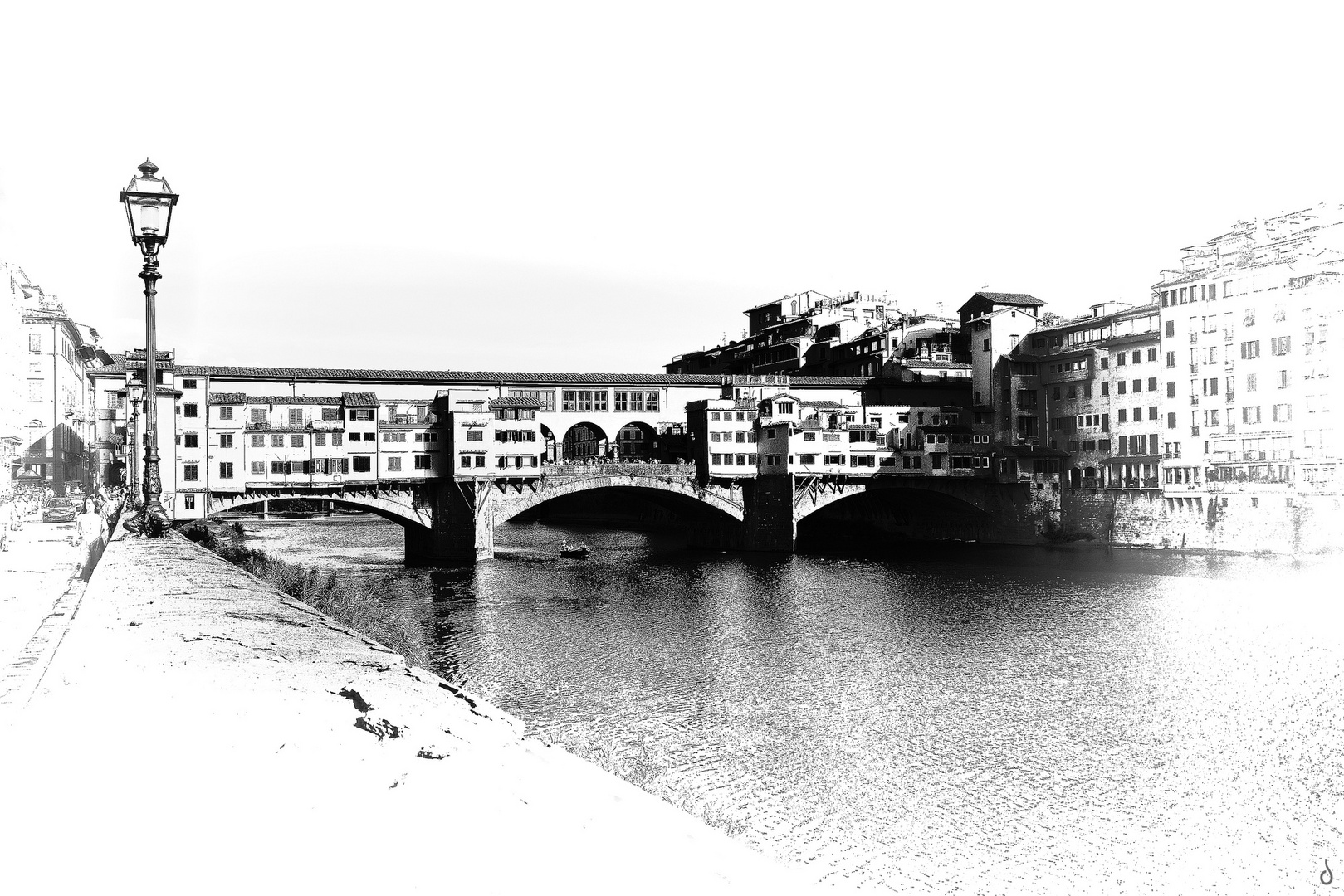 Ponte Vecchio   --   Grafik-Stil -BW-   ©D7066_BWVi5