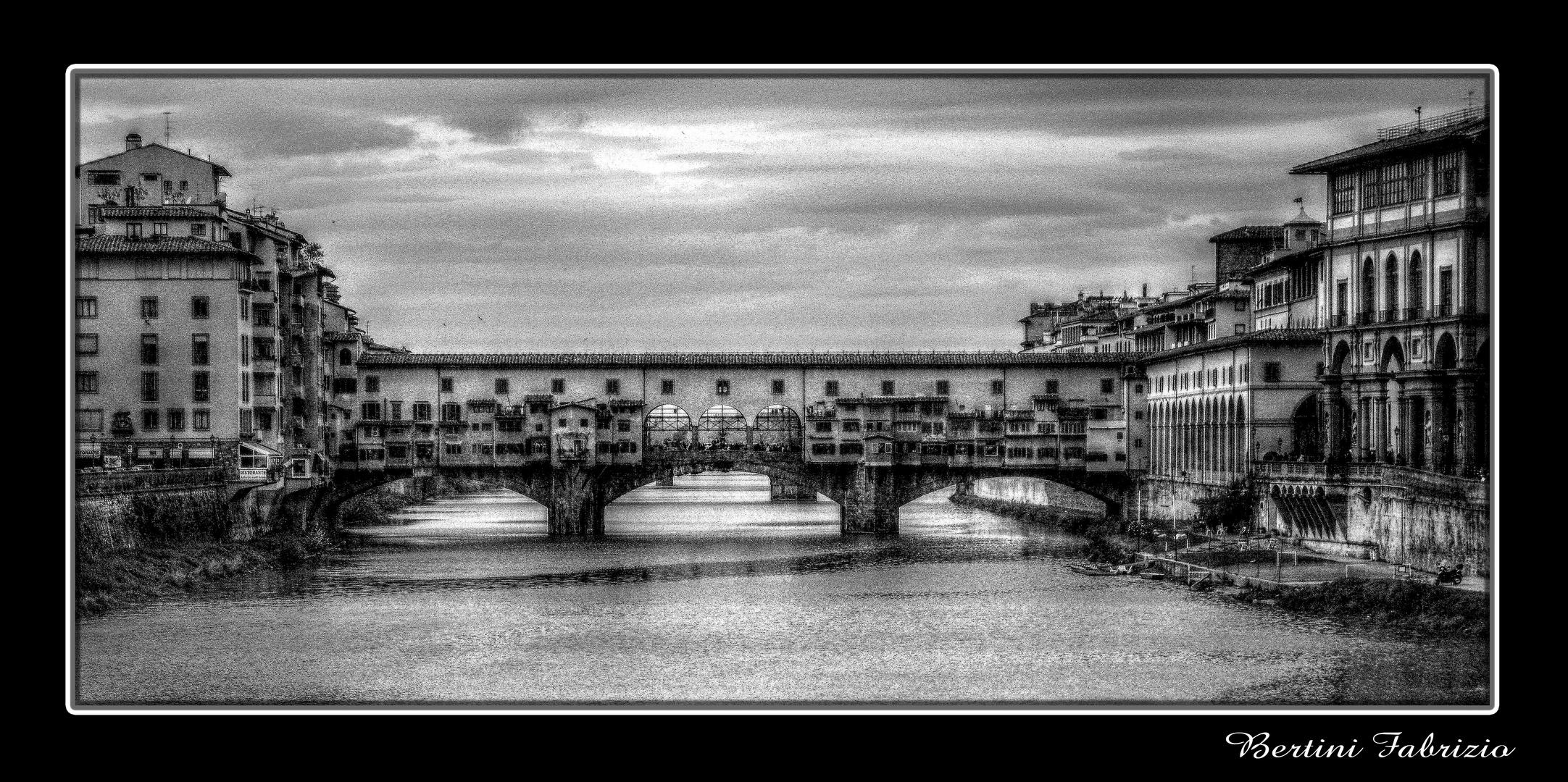 ponte vecchio in b/n