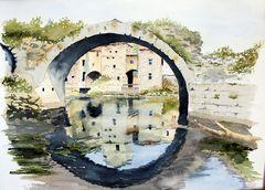Ponts (3) - Le pont du moulin de Pont Saint Thibery