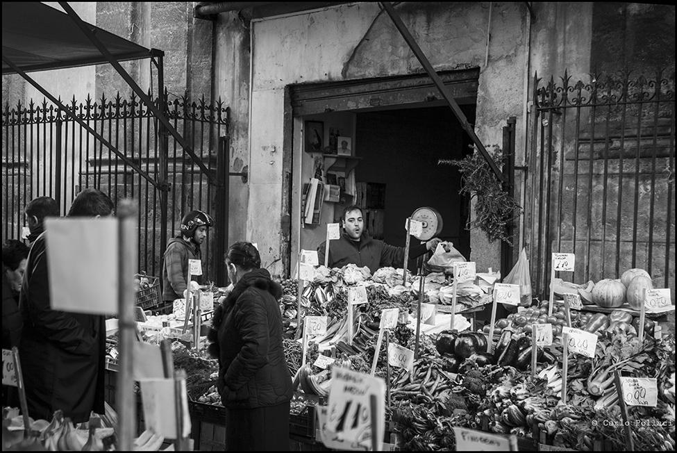 Popular shop of fruit and vegetables