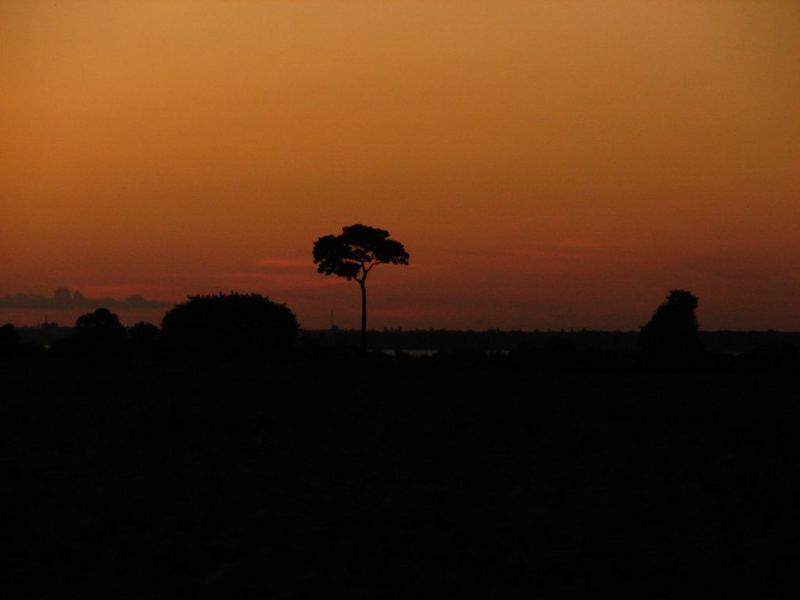 Por do Sol no Lago de Itaipu