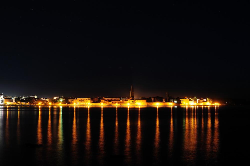 Porec (Istrien) bei Nacht I - Festung