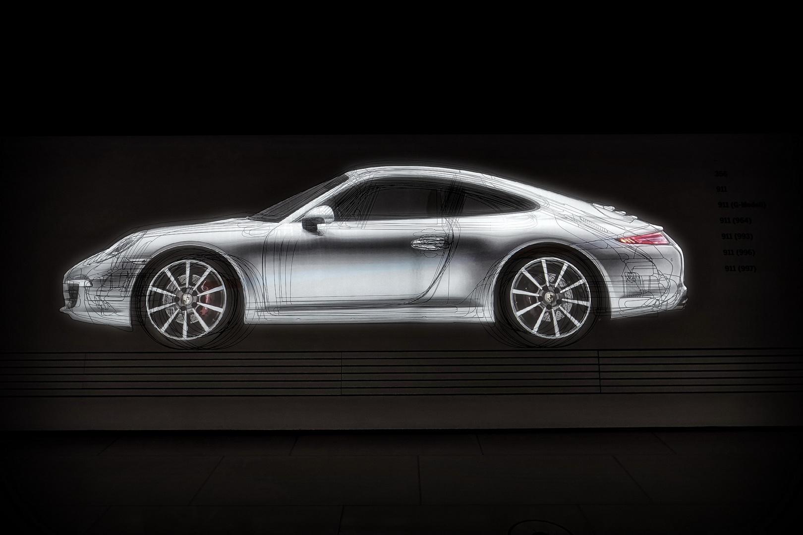 Porsche 911 Zeichnung