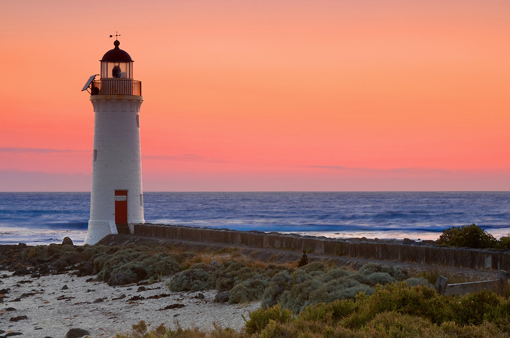 Port Fairy lighthouse with Wallabey