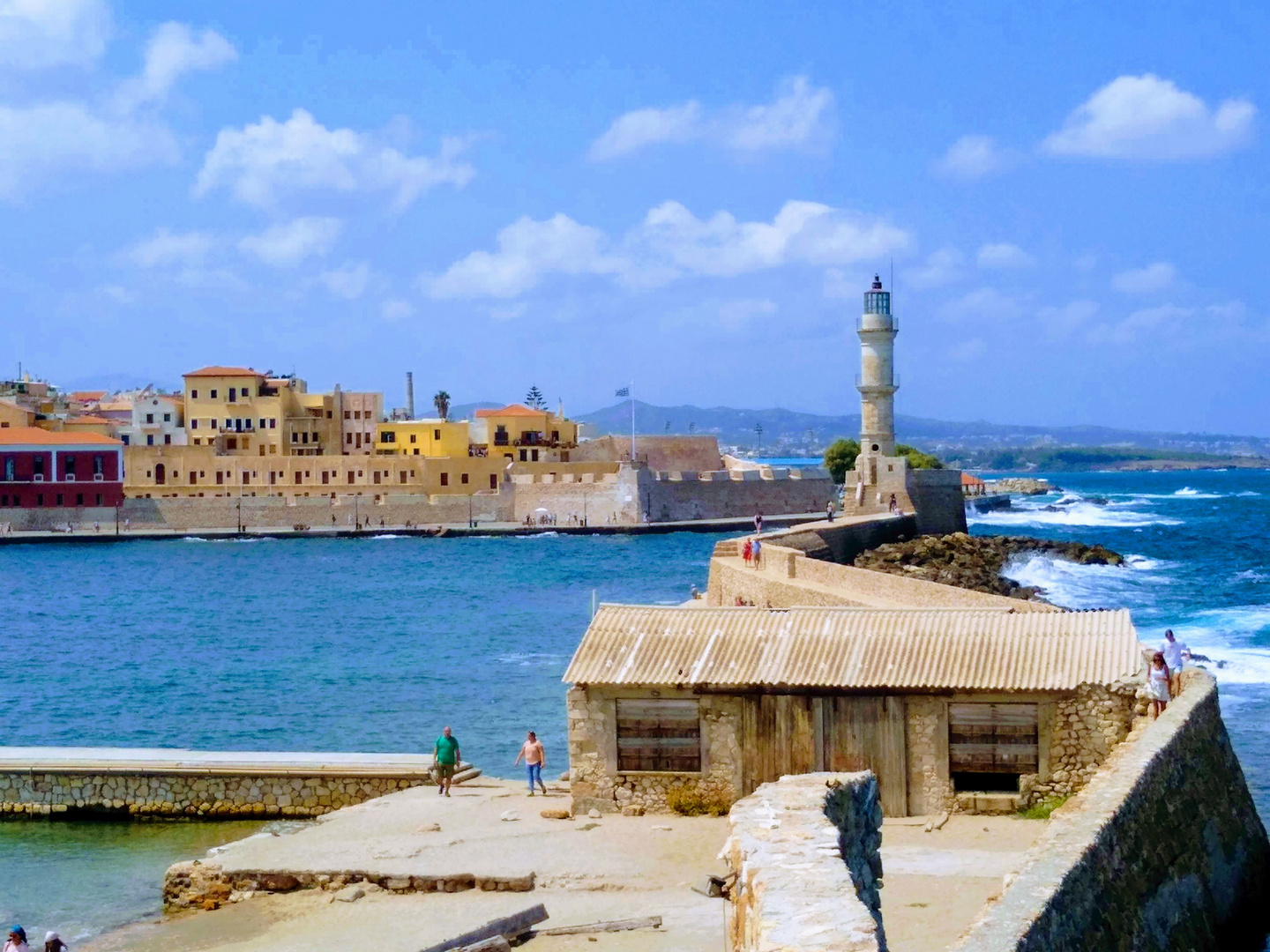 Port of Chania with light house