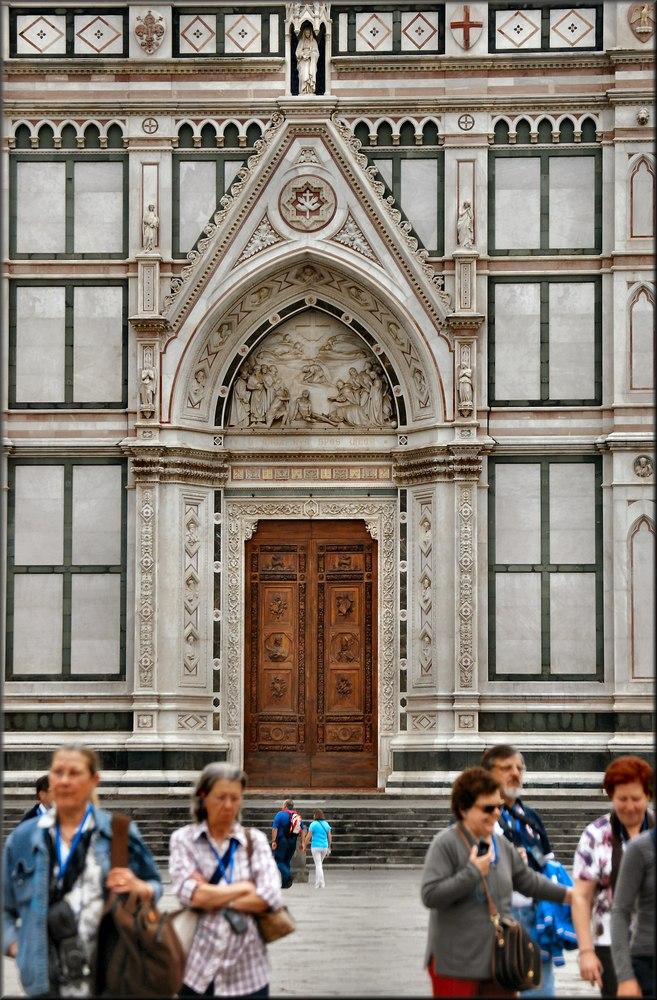 Porta della Chiesa di Santa Croce di Firenze