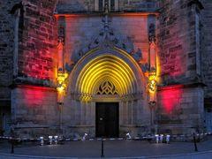 Portal der Margarethenkirche (shopping-night)