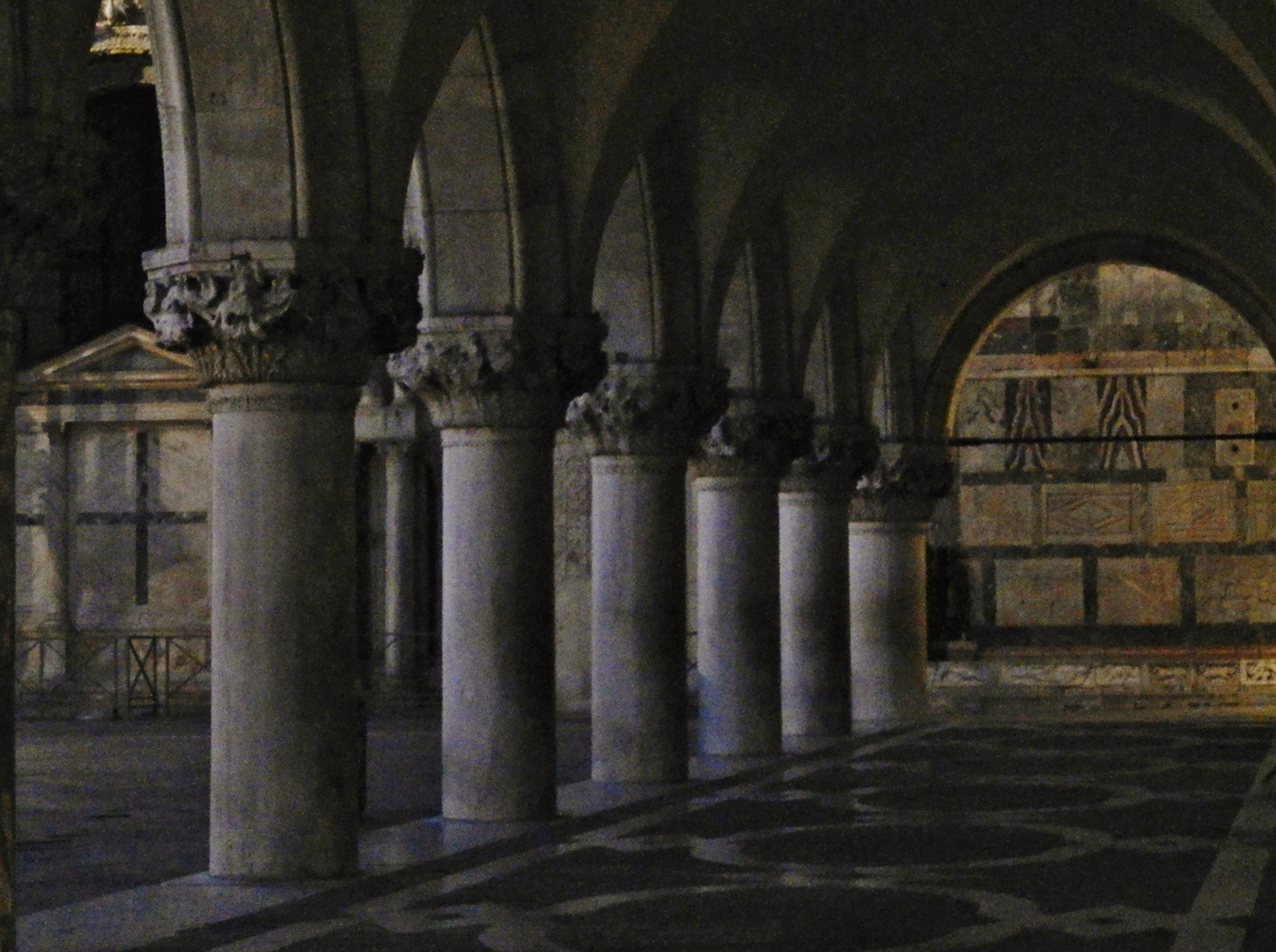 Portico of The Ducal Palace in Venice