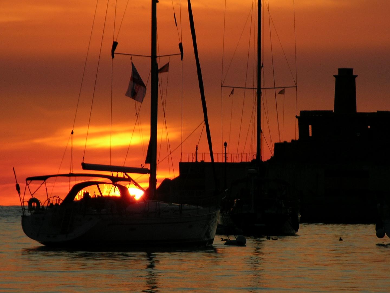 Porto Soller, Mallorca, Sonnenuntergang