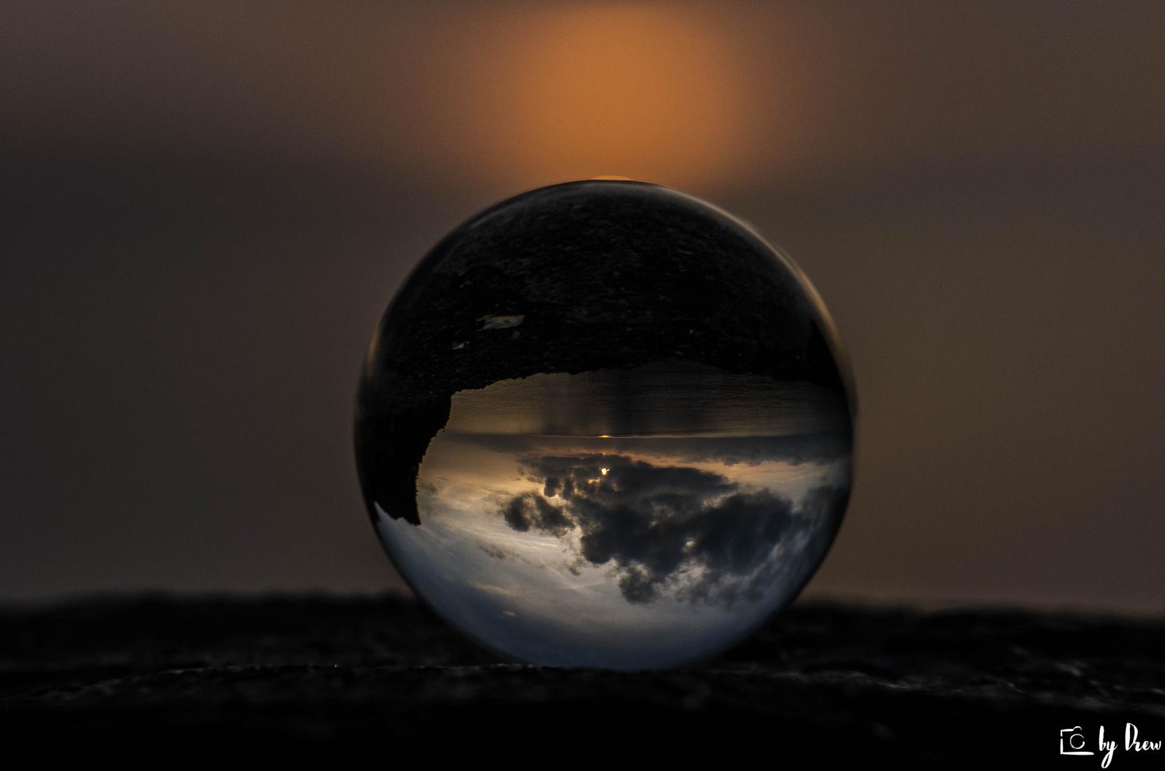 Portovenere's sky in a cristal ball