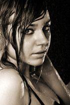 Porträt im Regen