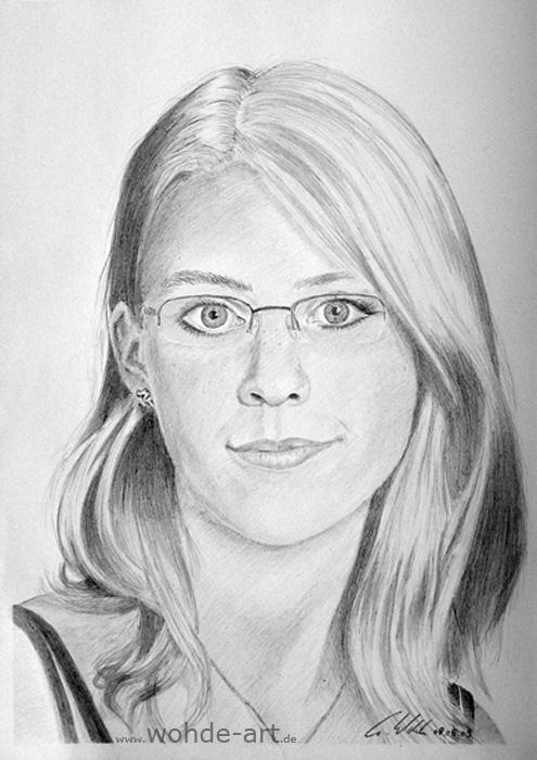 Portrait Zeichnen Frau Fab Hairdesign