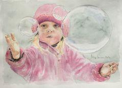 Portrait (4) - La petite fille aux bulles de savon