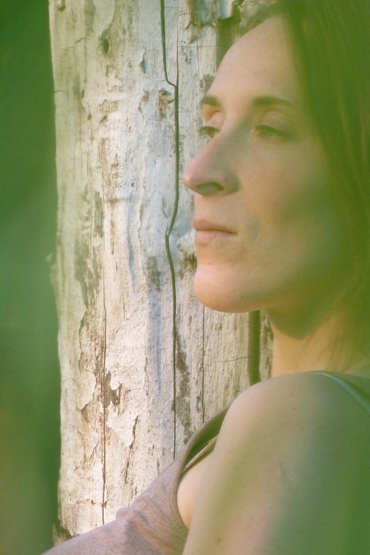 Portrait an altem Baum III colour