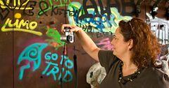 """Portrait einer """"Graffitifotografin"""""""