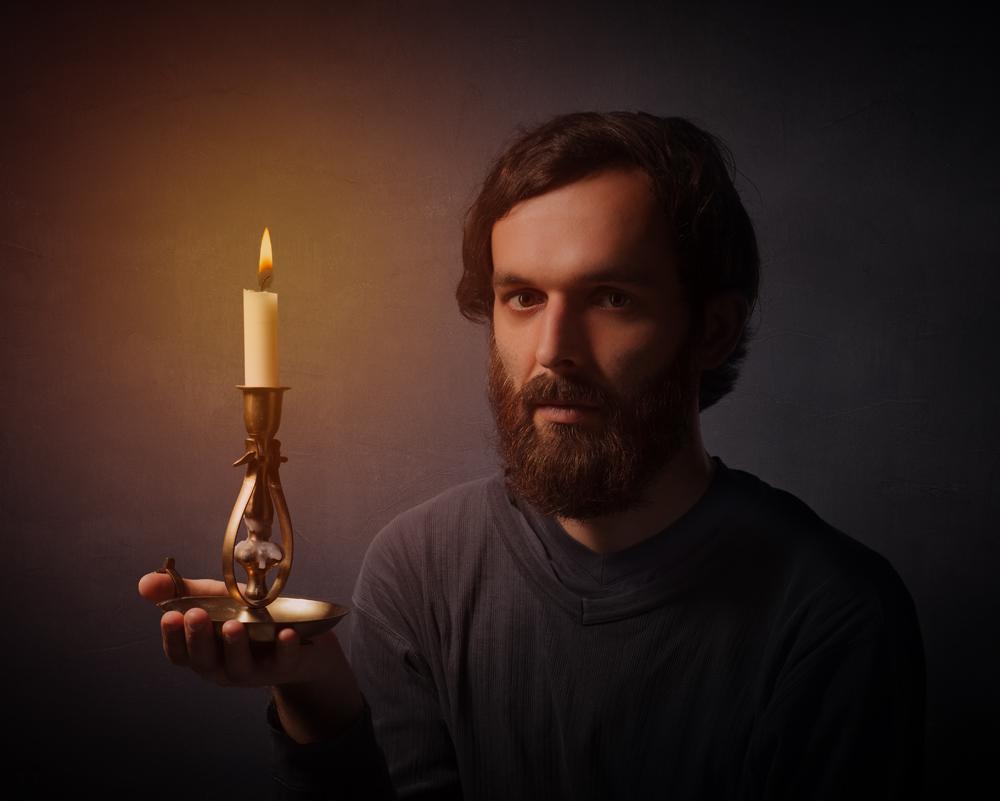 Portrait mit Kerze