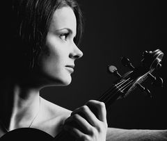 Portrait of a young violist