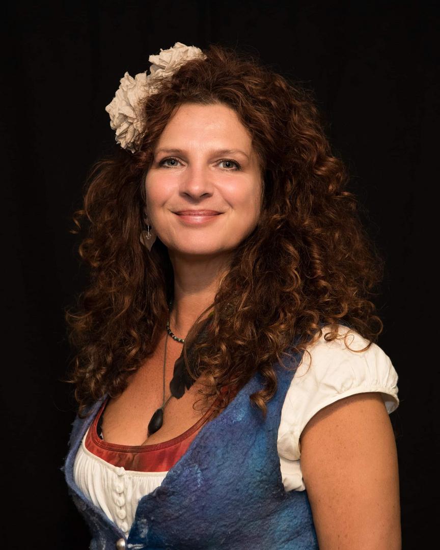 Portrait of an Irish lady.