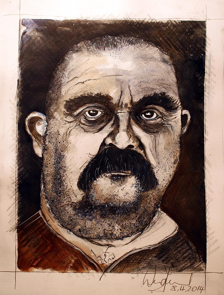 """Portrait Skizze """"Pippo""""..."""